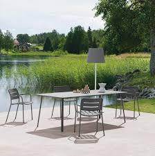 Kettal Outdoor Furniture Contemporary Table Aluminum Rectangular Round Village