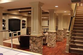 home theater in basement lally columns home theater google search basement ideas