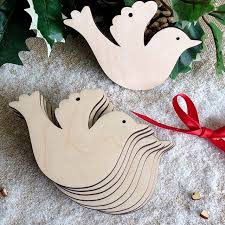 10pcs lot simple design wooden peace dove