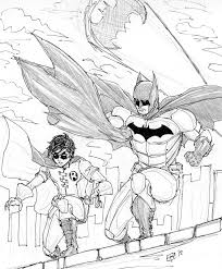 batman and robin coloring pages coloringsuite com