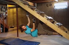 homebrew build a cheap basement climbing ladder the alpine start
