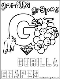 g gorilla grapes coloring page alphabet g pinterest
