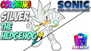 silver the hedgehog coloring pages sonic the hedgehog video