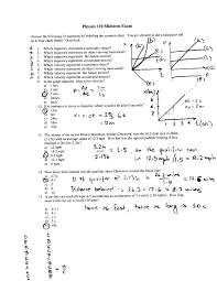 Physics Reference Table by Osu Physics Physics 161