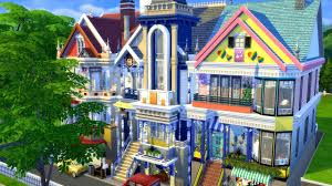 the sims 4 speed build san fran houses collab youtube