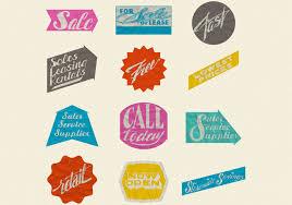 retro wrinkled paper sale labels psd set free photoshop brushes