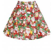 christmas skirt and green christmas santa claus plus size skirt xl 19 19