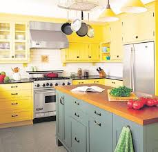Colors For Kitchen by Uncategories U Shaped Kitchen With Peninsula Yellow Walls Gray