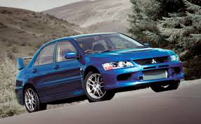 blue mitsubishi lancer evo ix wallpapers group 66