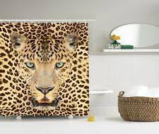 Animal Print Bathroom Decor Animal Print Fabric Shower Curtains Ebay