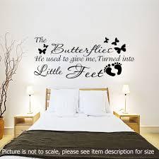 details about little feet wall stickers pregnancy quotes wall stickers pregnancy quotes bedroom nursery decals vinyl murals