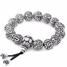 bracelet beads silver images Ancient lotus silver prayer beads bracelet ring to perfection jpg