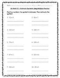 go math practice 4th grade chapter 4 divide by 1 digit numbers