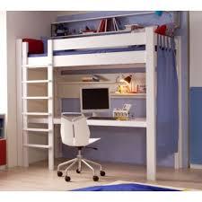 lit mezzanine avec bureau intégré lit mezzanine de style avec bureau et étagères bambins déco