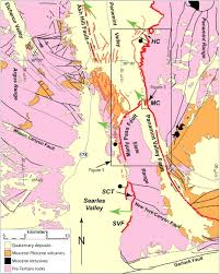 Map Fault Lines United States by Strain Transfer And Partitioning Between The Panamint Valley