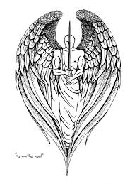 cross with wings design of jason
