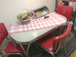 Red Dining Table by Black And Red Dining Room Decoration Using Red Leather Retro