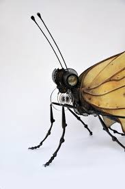 and insect assemblages made from repurposed objects by