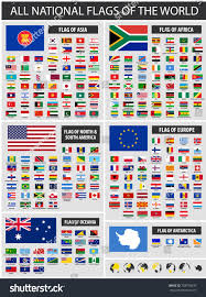 Country Flags Of The World All Official National Flags World Country Stock Vector 788750635
