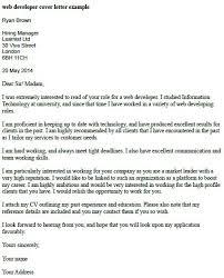 web developer cover letter example learnist org