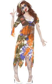 60s Halloween Costumes Zombie Hippie Halloween Costume Women U0027s Hippie Zombie Costume