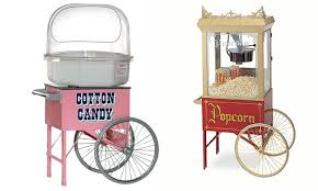 popcorn rental machine cotton candy or popcorn machine blue balloon groupon