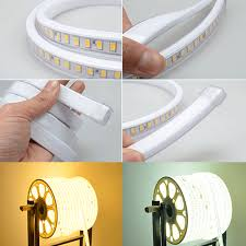 led light strip waterproof eu version 220v ac high power smd5630 120led 10w per meter outdoor