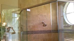 heavy glass shower door frameless shower door header sistem youtube