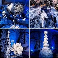 blue silver white wedding decorations blue and white wedding