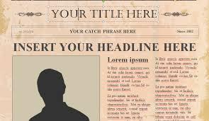editable old newspaper template