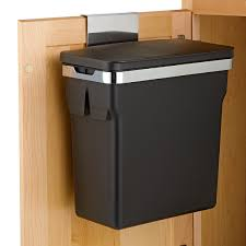 kitchen cabinet garbage can simplehuman black in cabinet 2 6 gal trash can the container store