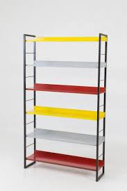 mid century modern metal standing bookshelf by tomado 1950s for