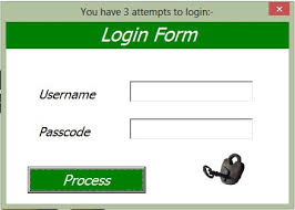 membuat form login dengan ms access 2007 excel userform login online pc learning