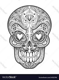 sugar skull tattoo royalty free vector image vectorstock
