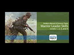infantry training and readiness manual elite warrior leader skills soldier u0027s manual of common tasks 1