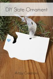 diy state ornament artzycreations