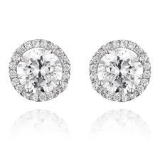 cubic zirconia earrings 9ct white gold cubic zirconia stud earrings 0000575