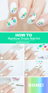 rainbow drops drag marble nail art tutorial marble nail art
