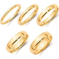plain gold wedding bands 14k yellow gold unisex wedding anniversary bands ebay