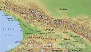 Maps Of Georgia Georgia Physical Map