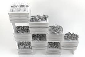 White Wall Planter by 3d Modular Wall Planter Cgtrader