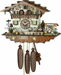 cuckoo clock 8 day movement chalet style 32cm by hubert herr 65