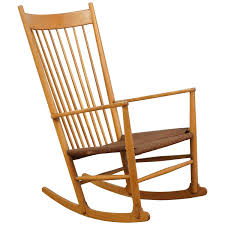 Vintage Rocking Chairs Danish Vintage Rocking Chair With Seat At 1stdibs