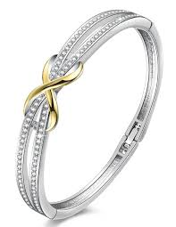 swarovski crystal gold plated bracelet images Angelady women 39 s white gold plated swarovski crystal bracelet jpg