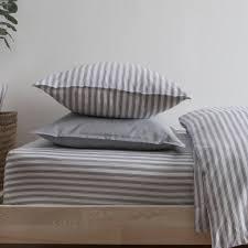 ticking stripe blue grey pillowcase by harriet hare