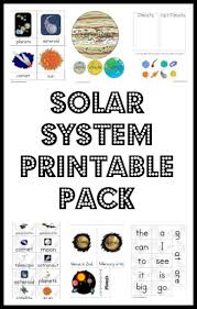 solar system printable pack solar system solar and preschool
