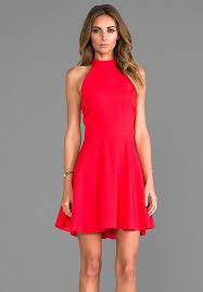 red halter dress casual ivo hoogveld