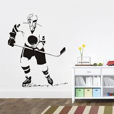 sport de chambre sport stickers muraux hockey sur glace lecteur amovible vinyl