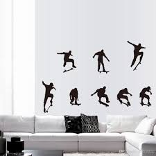 skateboard sports cool life simple black diy wall sticke stickers skateboard sports cool life simple black diy wall sticke stickers wallpaper art mural room decor home decoration sticker