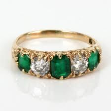 antique emerald art deco ring antique emerald rings deep green